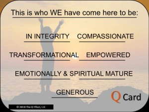 Unity Spiritual Center's Q Card